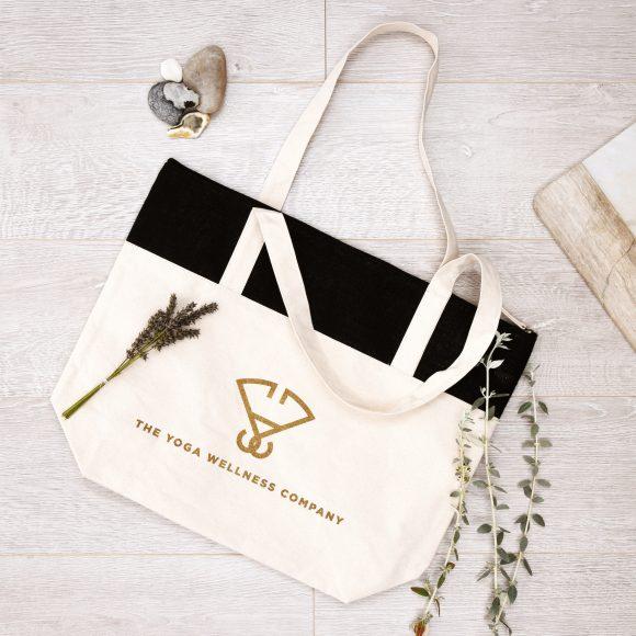 Yoga Canvas Tote Bag at The Yoga Wellness Company