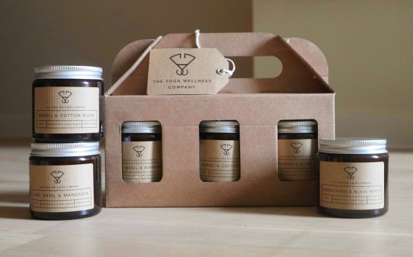 100% eco-friendly packaging. Luxury Candle Gift Set by The Yoga Wellness Company